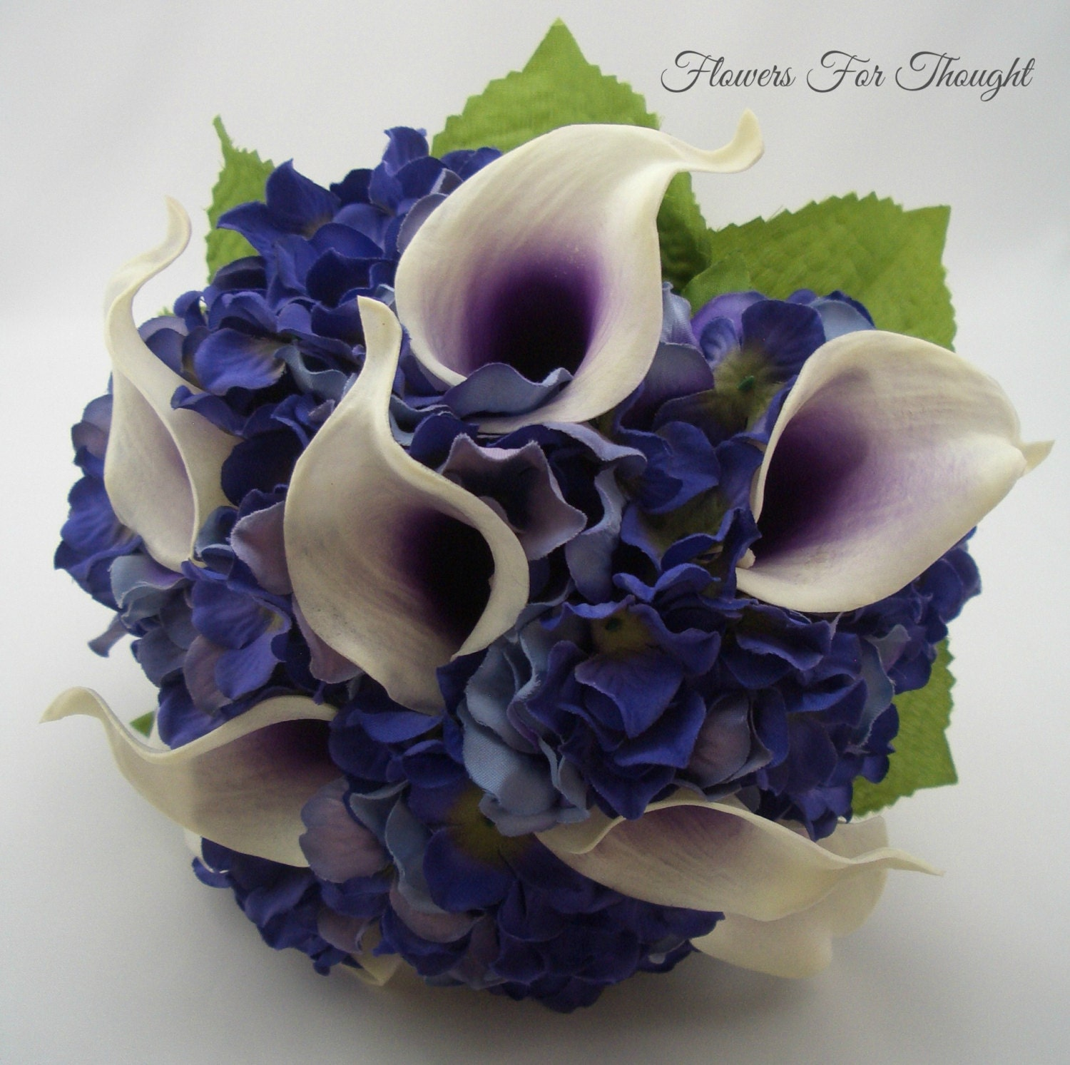 Purple Calla Lily Bouquet Real Touch Picasso Callas And