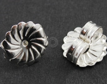 Sterling Silver Large Earrings Back, 1 Piece, Sold INDIVIDUALLY, Just buy as many you need, (SS/727)