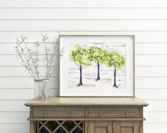Tree Wall Art, printable, tree wall decor, tree print, tree art, tree art print, tree artwork, tree decor, woodland, woodland decor, prints