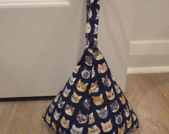 Cats With Glasses Triangle Doorstop