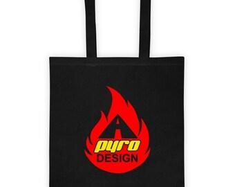A Pyro Design Flame Tote bag