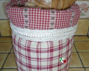 Country bread bag, bread basket, tyrolean bread holder, bread case, breadsticks bag, breadsticks basket, breadsticks case