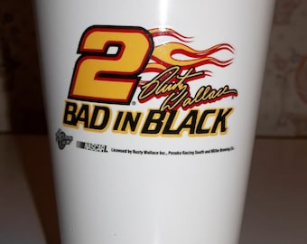 NASCAR RUSTY WALLACE #2 Miller Lite Bad In Black Ceramic Pint Glass #2