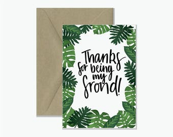 Thanks for Being my Frond Greeting Card | Friend Gift Card