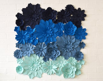 Large ombre paper flower backdrop or installation