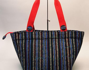 Square Bottom large capacity Tote Bag