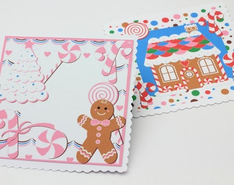 Printable Gift Tags Gingerbread Holiday Instant Download