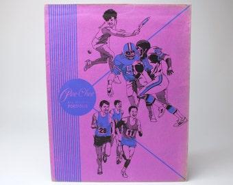 Vintage 1987 Mead Peechee All Season Sports Portfolio Folder in Purple & Blue, 33022 - Fits into 3 Ring Binder / 2 Pockets