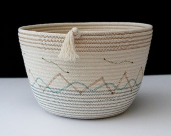 Artisan Rope Bowl - Pebble & Sea
