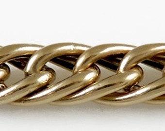 Antique c1925 14K Yellow Gold Chain Charm Bracelet