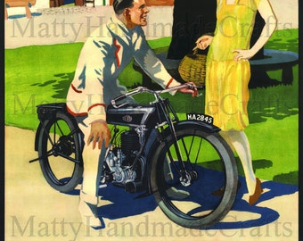 Levis Motorcycles, Levis, Motorbike, 1930s Advertising Print