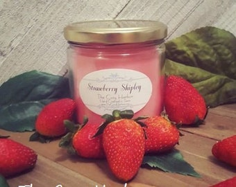 Hand Poured Strawberry Scented Soy Candle