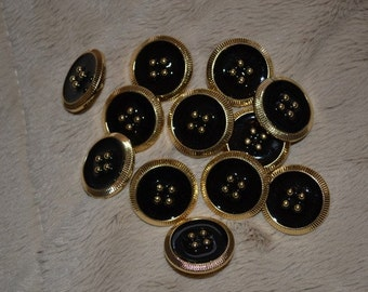 12 gold with black buttons