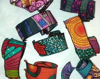 African Ribbons ...Choose a Print, Wired Ribbons
