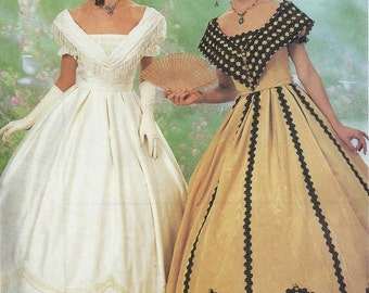 Butterick 6693 Civil War Dress Costume Sewing Pattern Historical Southern Belle Gown Size 12, 14 and 16 UNCUT