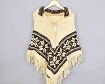 70's Knit Sweater Poncho