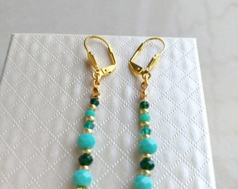 Tito Crystal turquoise earrings