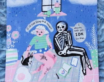 Conversations with Death - Print