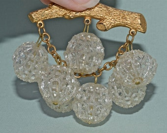 Mid Century Brooch, Statement Jewelry, Bubbles