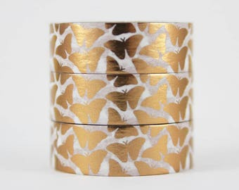 Washi tape foil tape copper butterflies bronze masking tape