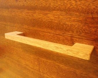 Contemporary Mahogany Wood Cabinet Pull