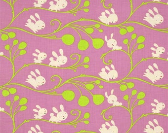 CLEARANCE - Free Spirit - David Walker Fabric - Garden - Vines -Lilac