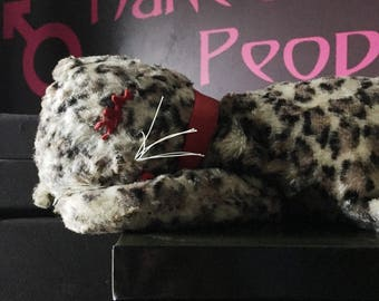 1950's Plush Stuffed Leopard Shelf-sitter