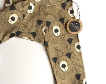 Organic Cotton Baby Pants- Bear Print