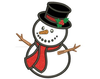 Snowman Applique Design 7 sizes included.Machine embroidery designs ChirstmasEmbroidery design PES,Kid Embroidery,Applique designs