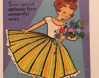 Vintage Birthday Card Sister NOS Unused 1950s