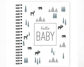 Hello Baby™ Baby Book, Baby Memory Book, ADVENTURE Baby Album, Personalized Baby Book, ADVENTURE, The Sweet Rhino