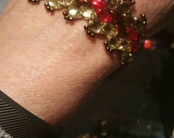 Lovely backlit diamond gemduo bracelet