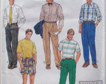 "Men's Fly Front Pants or Shorts Sewing Pattern - Simplicity 7137 - Waist 36"" - 44"" - Uncut"
