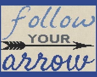 Follow your arrow Cross Stitch PDF Pattern