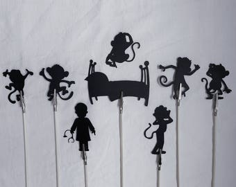 No More Monkey's Jumping on the Bed Shadow Puppets