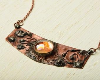 necklace hippie metalwork bohemian jewelry copper necklace gift women bohemian necklace glass necklace  boho necklace gypsy jewelry