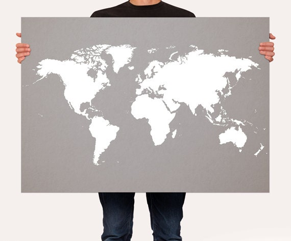 World map art print poster choose color zoom gumiabroncs Gallery