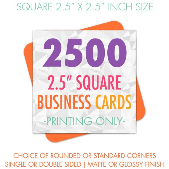 Square business cards printed 25 inch cards 2500 business like this item colourmoves