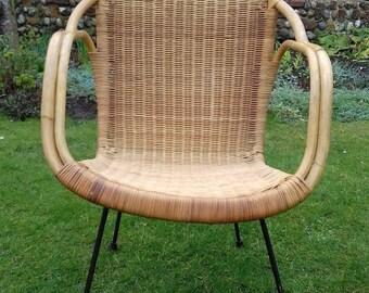 wicker chair vintage etsy uk