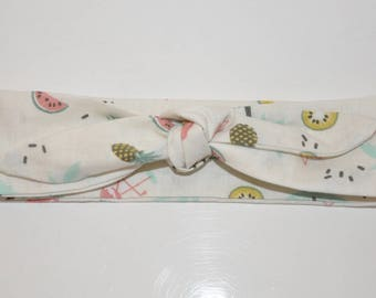 Tropical print baby headband