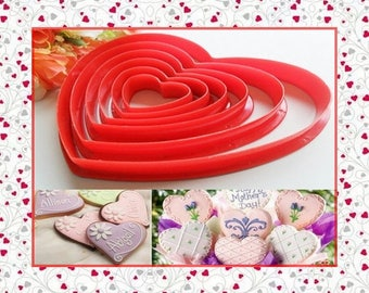 "Cutter: ""heart"" - set of 6 different sizes."