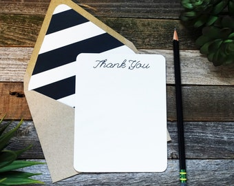 Standout Stripe Thank You Notes