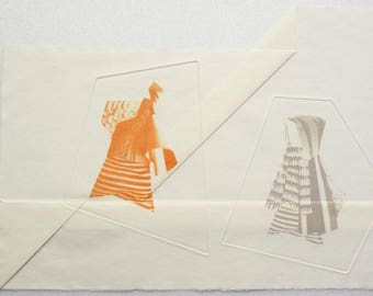 Photo etching on folded paper. 3D sculptural fine art print by Clare Thornton