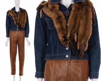 30's 40's Fur Stole Fox Fur Stole Vintage Fur Detached Collar