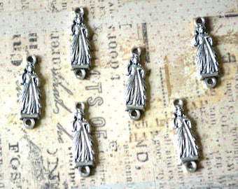 LIMITED STOCK - Divine Mercy - Connector - Pater Bead - SET of Six - Rosary Supplies - Chaplet Supplies - Italian