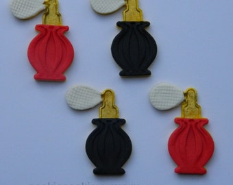 12 edible PERFUME BOTTLES BEAUTY queen assorted cupcake toppers decorations party wedding anniversary birthday egagement belle fancy