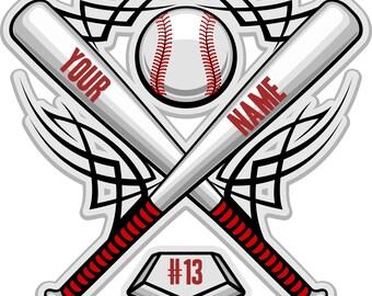 Custom Baseball 8 x 10 T Shirt Iron on