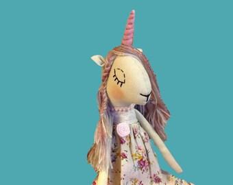 unicorn doll stuff unicorn toy unicorn plush cloth doll fantasy unicorn heirloom doll girl stuff animal soft doll fabric doll rag doll