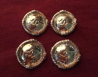 Chanel Designer 4 Pretty Buttons