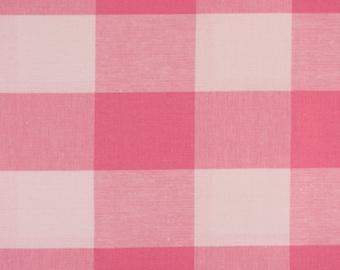 Pink Gingham Cotton Quilt Weight Fabric, Cotton Fabric,Quilting Cotton,Patchwork Fabrics,100% Cotton - Fat Quarter